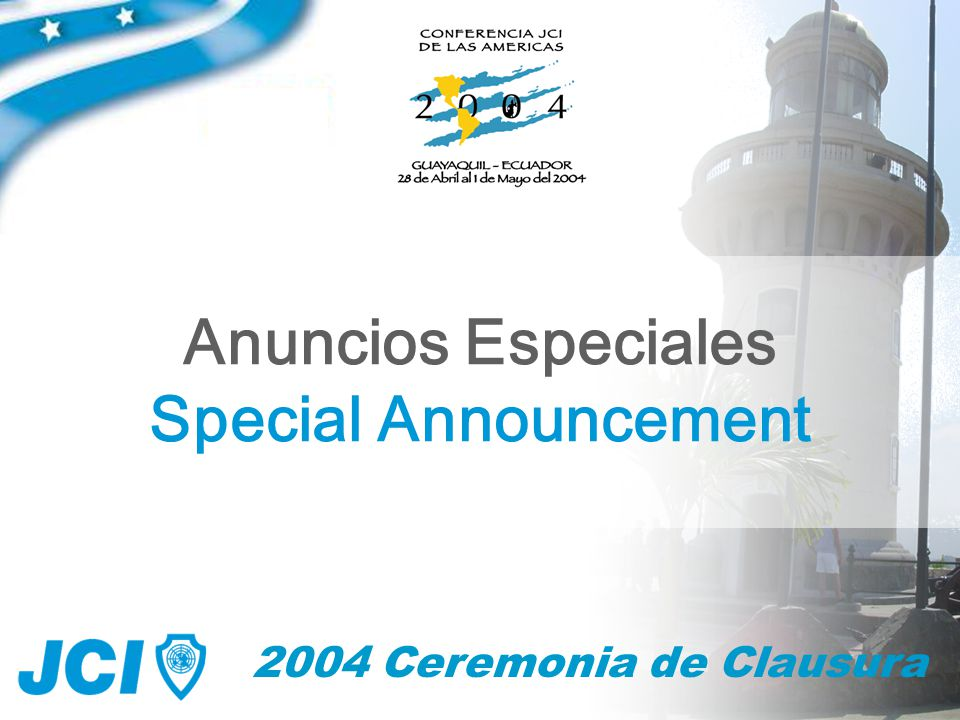 58 2004 Ceremonia de Clausura Anuncios Especiales Special Announcement