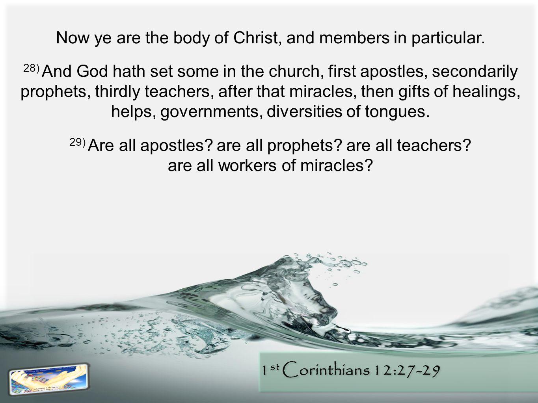 1 st Corinthians 12:27-29