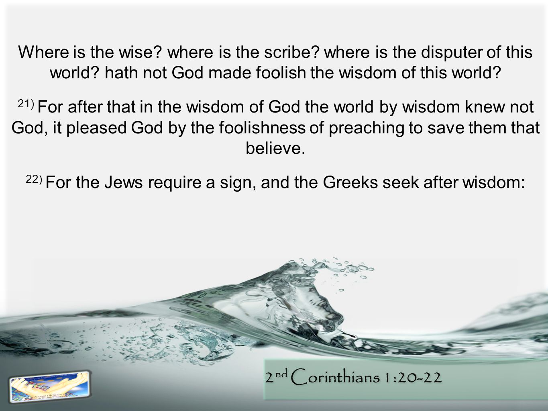 2 nd Corinthians 1:20-22