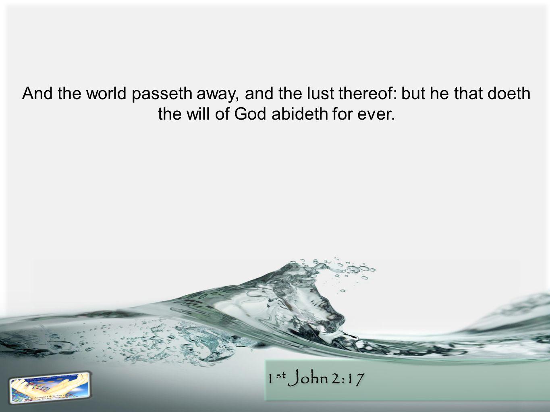 1 st John 2:17