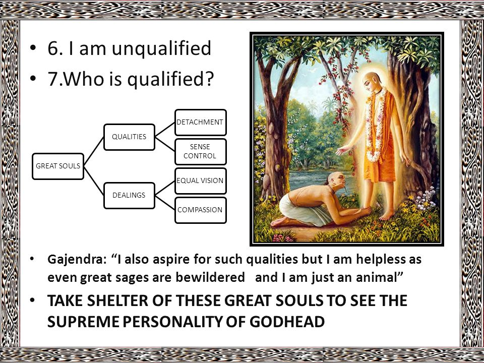 6. I am unqualified 7.Who is qualified.