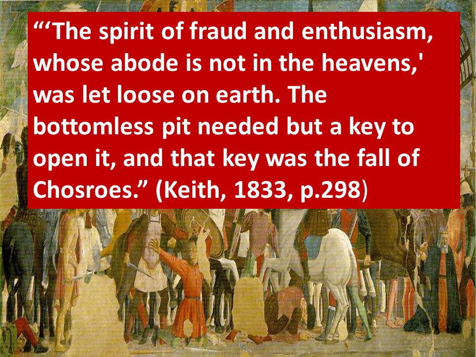 """'The spirit of fraud and enthusiasm, whose abode is not in the heavens,' was let loose on earth. The bottomless pit needed but a key to open it, and"