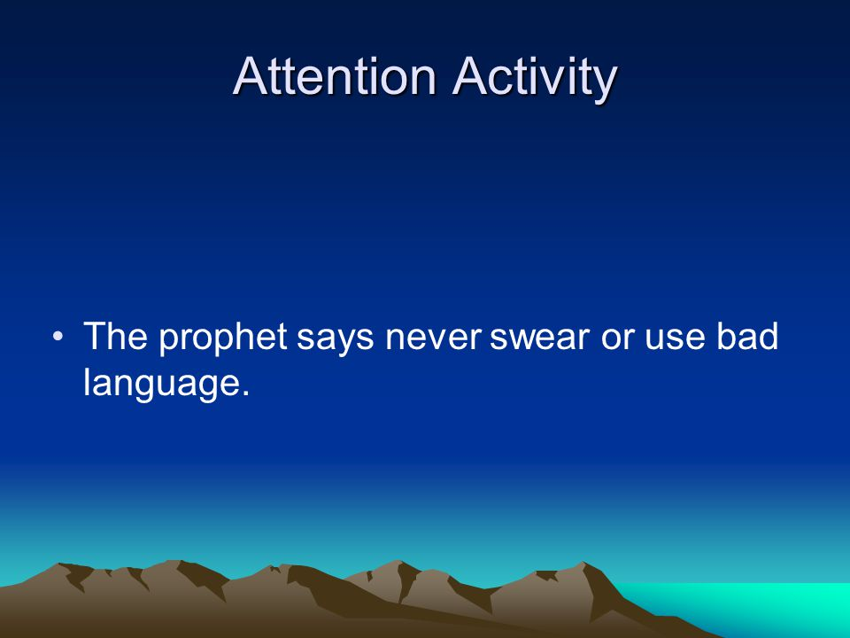 Attention Activity The prophet says one-tenth is too much; just pay what you can afford.