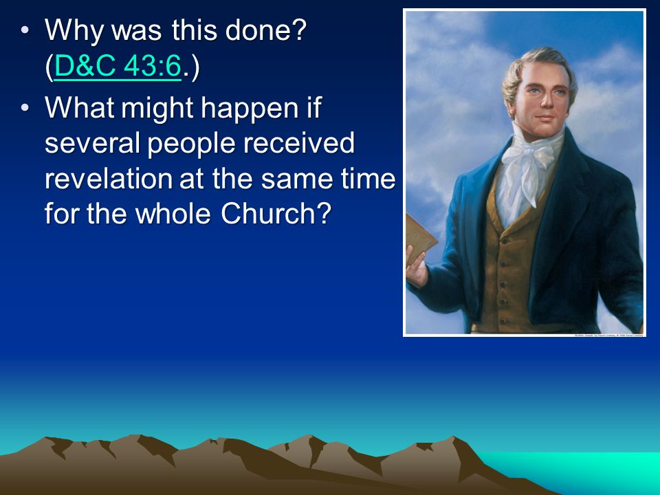 Who was originally appointed to receive commandments and revelations for the whole Church.