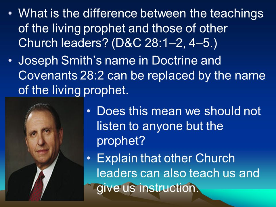 What is the difference between the teachings of the living prophet and those of other Church leaders.