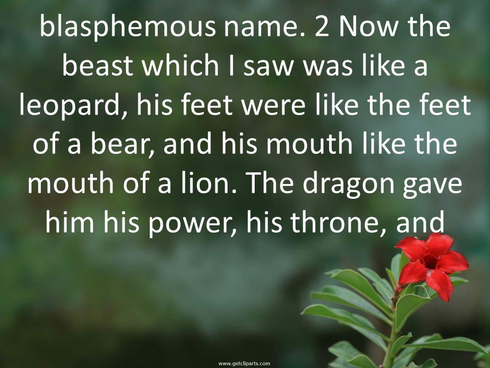 blasphemous name.