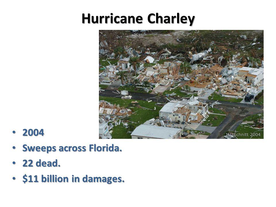 Hurricane Charley 2004 2004 Sweeps across Florida.