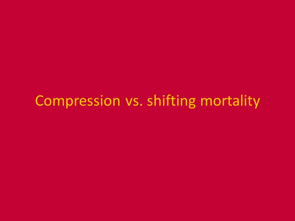 Compression vs. shifting mortality