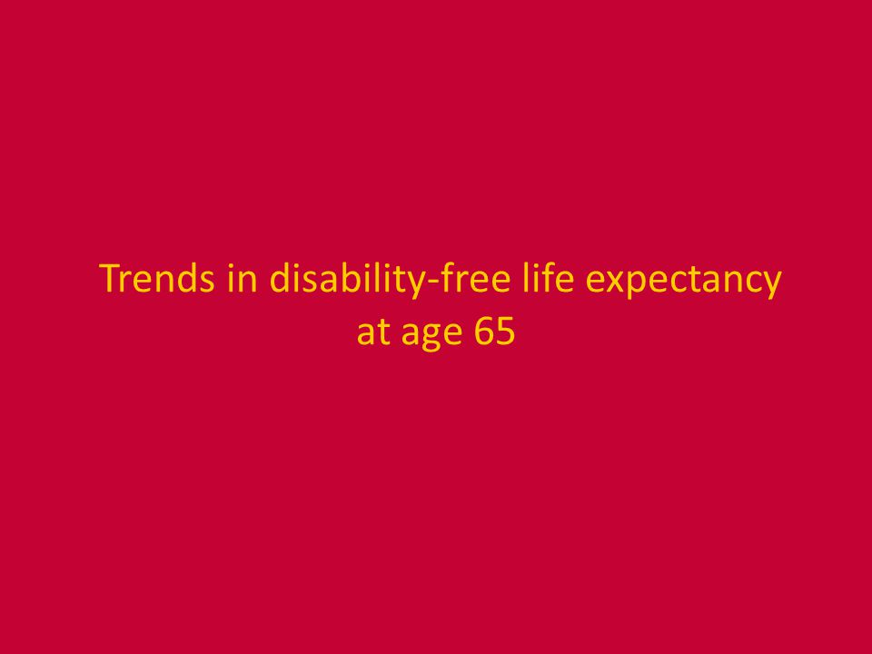 Trends in disability-free life expectancy at age 65