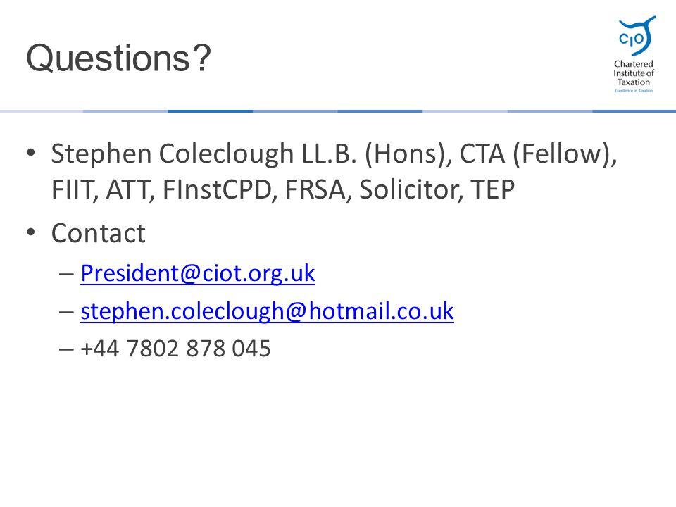 Stephen Coleclough LL.B.