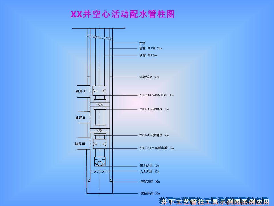 XX 井空心活动配水管柱图