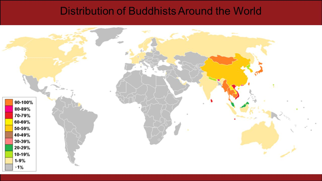 Distribution of Buddhists Around the World