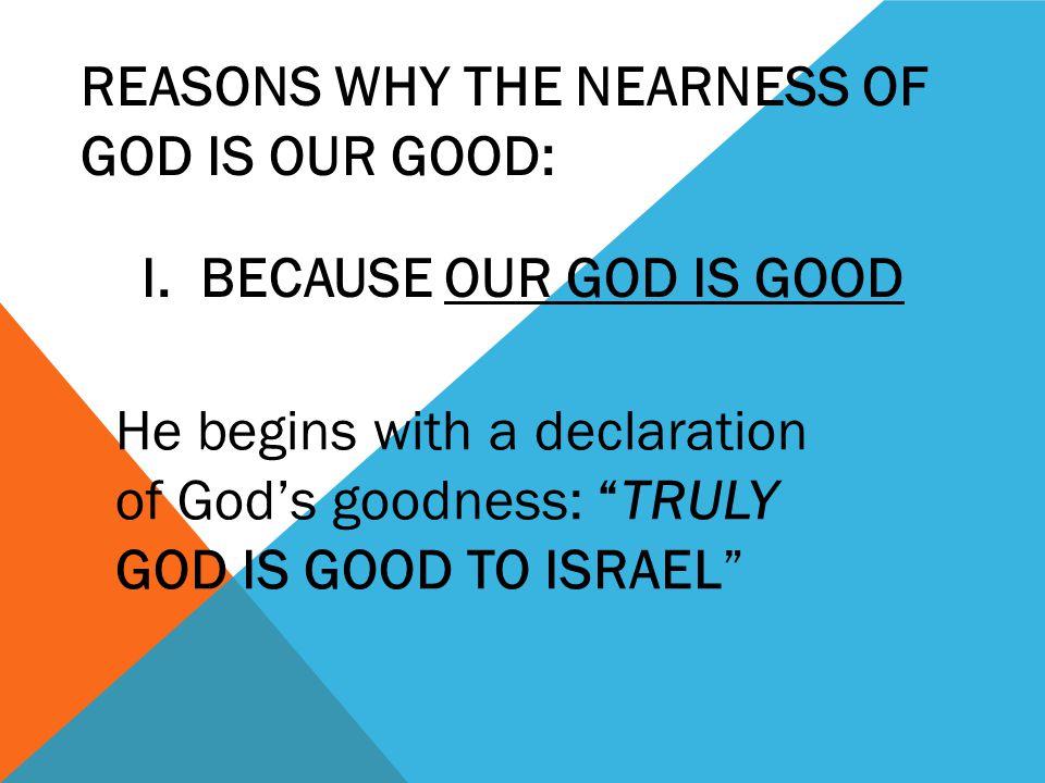 If we draw near to God, he will draw near to us.