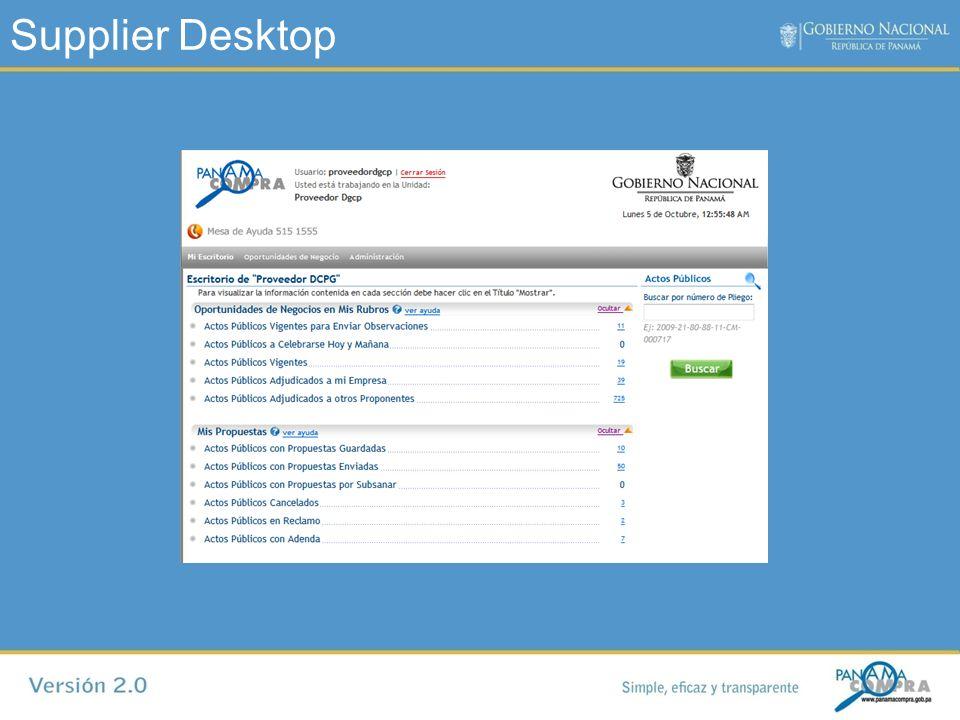 Supplier Desktop