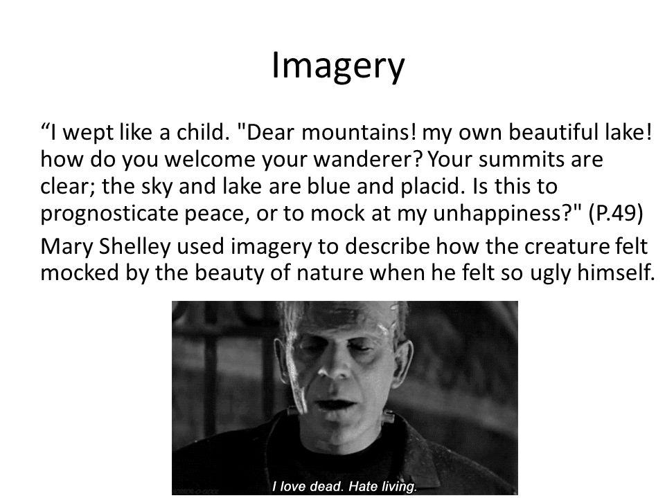 Imagery I wept like a child. Dear mountains. my own beautiful lake.