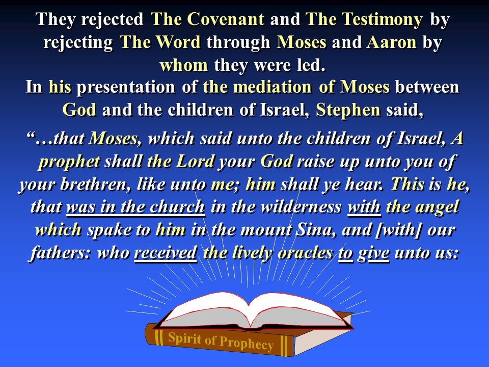 …that Moses, which said unto the children of Israel, A prophet shall the Lord your God raise up unto you of your brethren, like unto me; him shall ye hear.