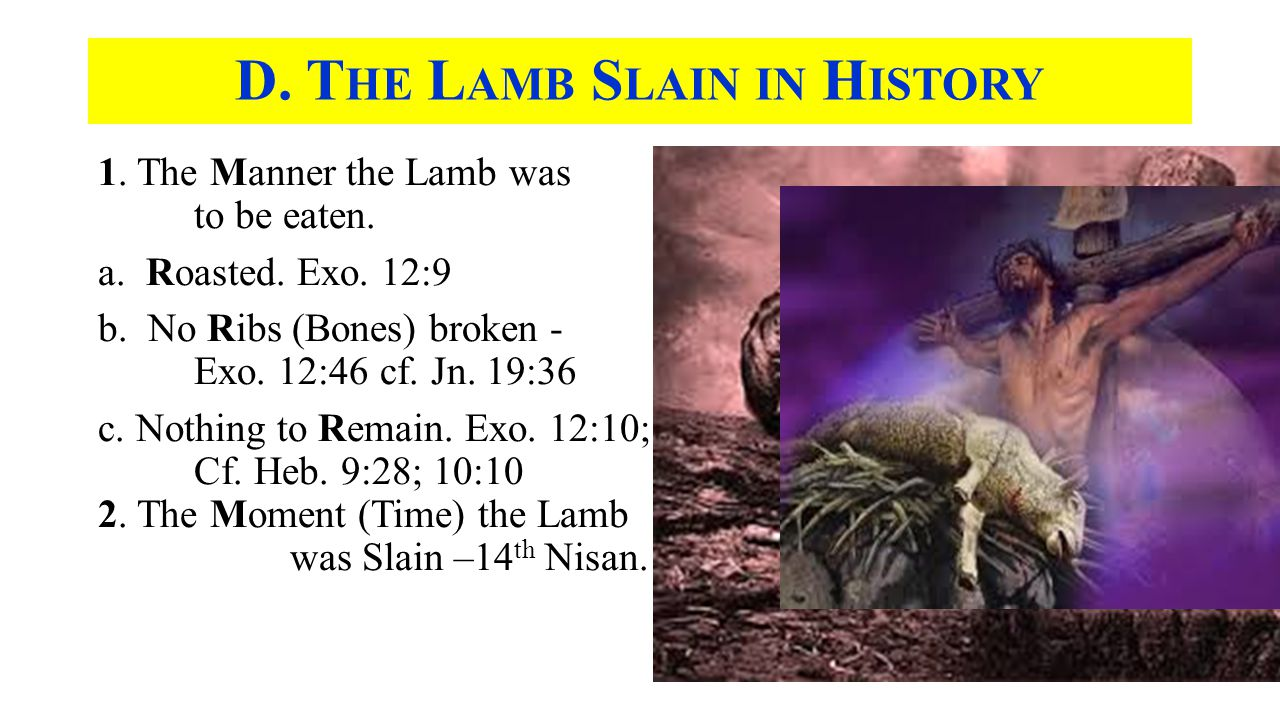 1. The Manner the Lamb was to be eaten. a. Roasted.