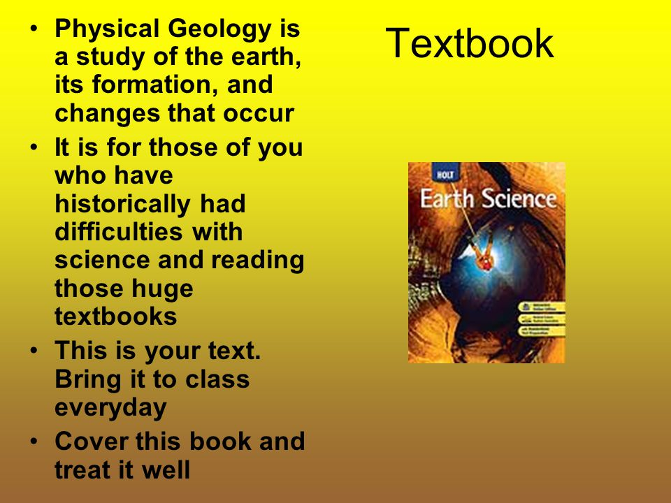 Classroom Activity We will try to read all material from the text and add presentations and discussions to help you understand the vocab and concepts