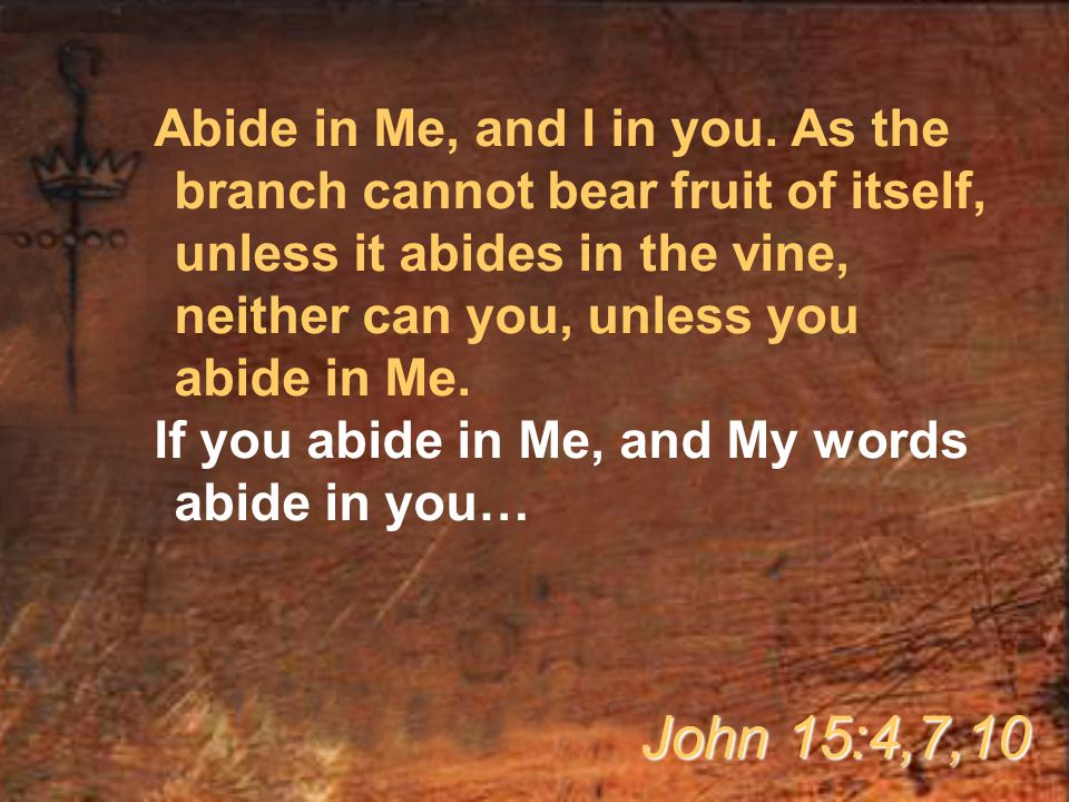 Abide in Me, and I in you.