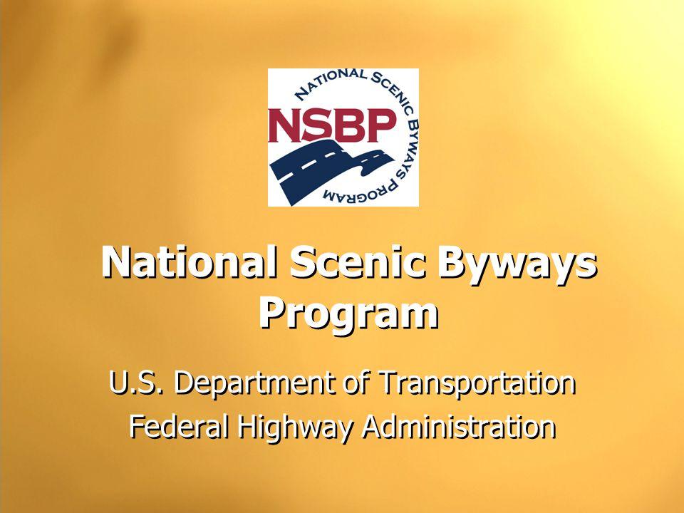 National Scenic Byways Program U.S.