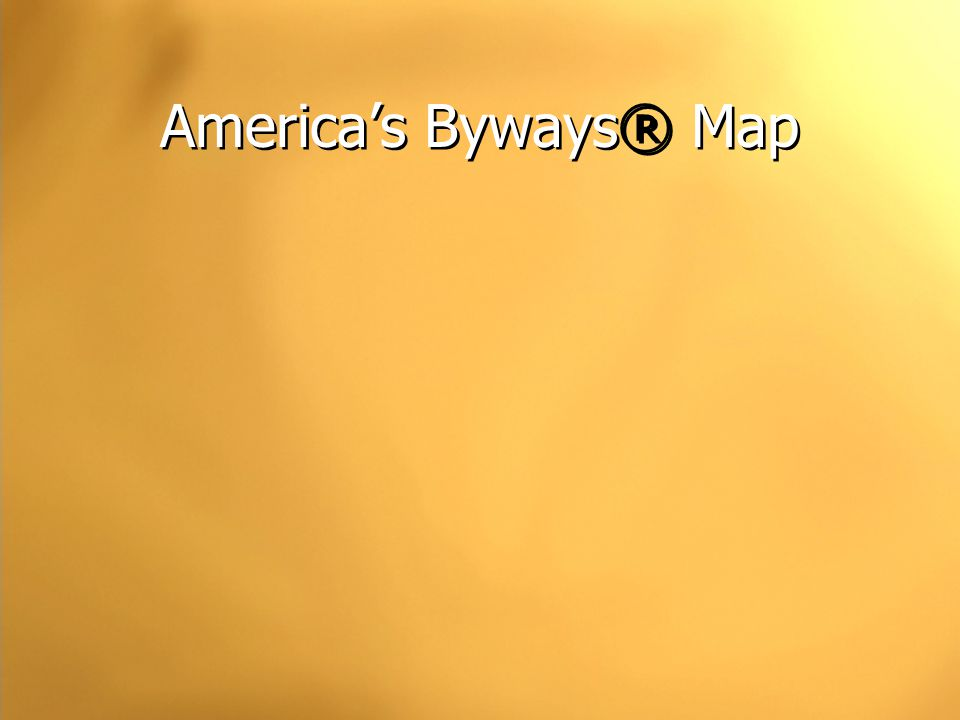 America's Byways® Map