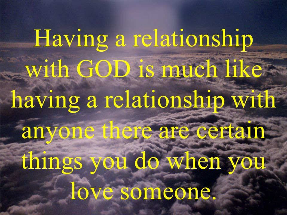 #4 Do things for GOD Talk to others about him
