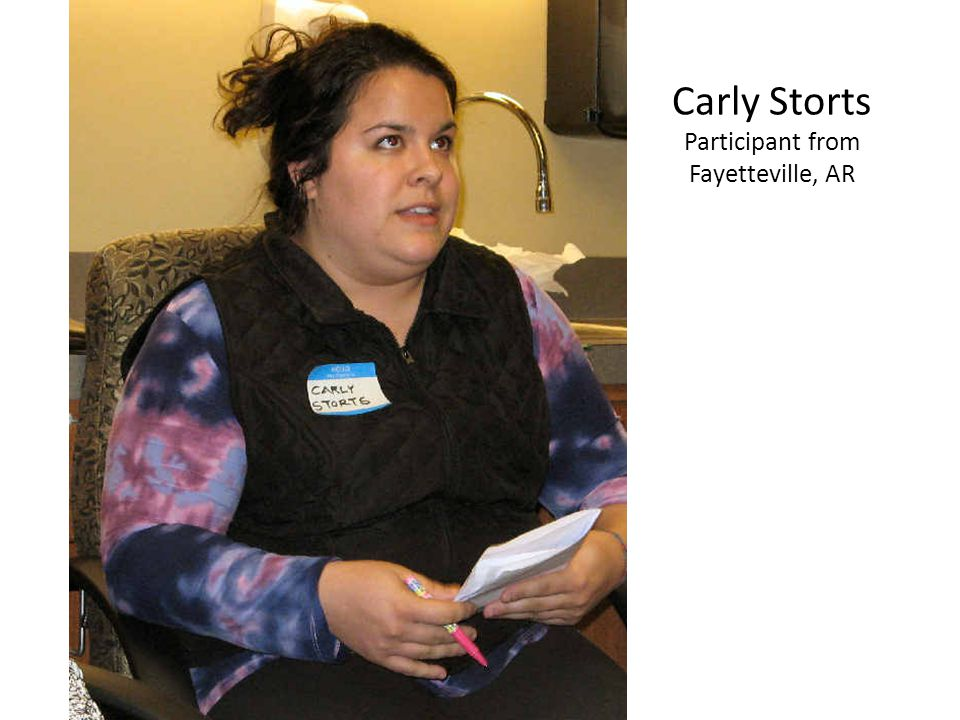 Carly Storts Participant from Fayetteville, AR