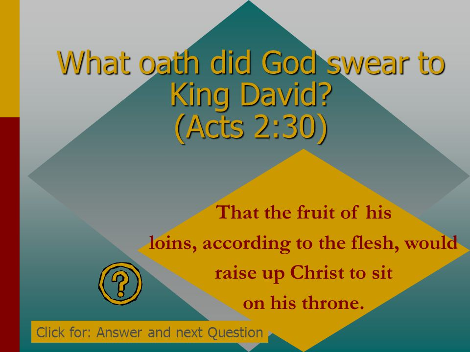 What oath did God swear to King David.