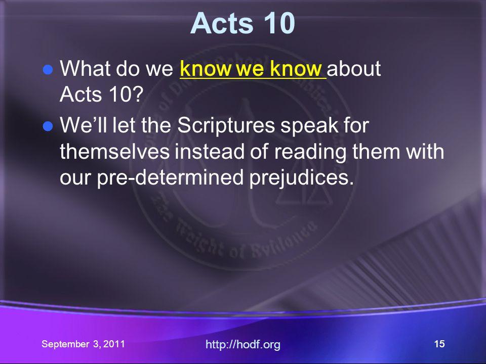 September 3, 2011 http://hodf.org 14 Romans 14: Part V Where did our journey begin.