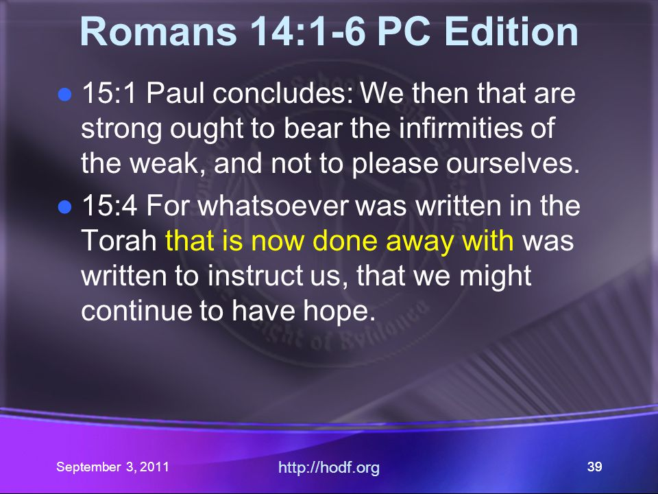 http://hodf.org 38 omans 14:1-6 Their Translation