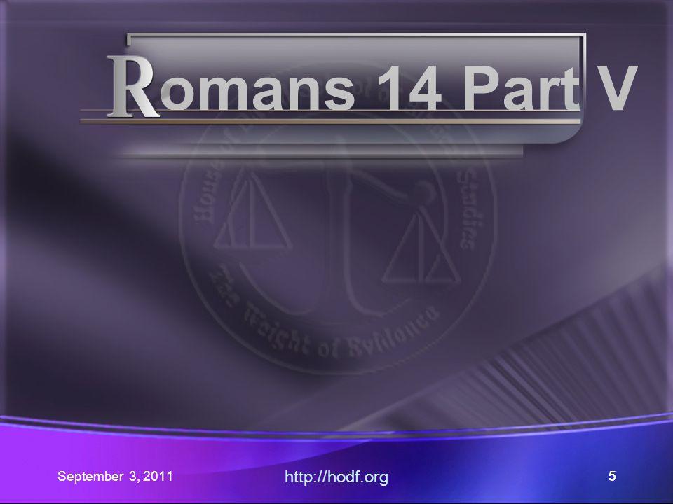 September 3, 2011 http://hodf.org 4