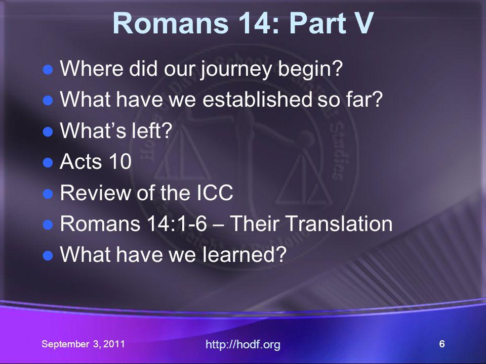 September 3, 2011 http://hodf.org 55 omans 14 Part V