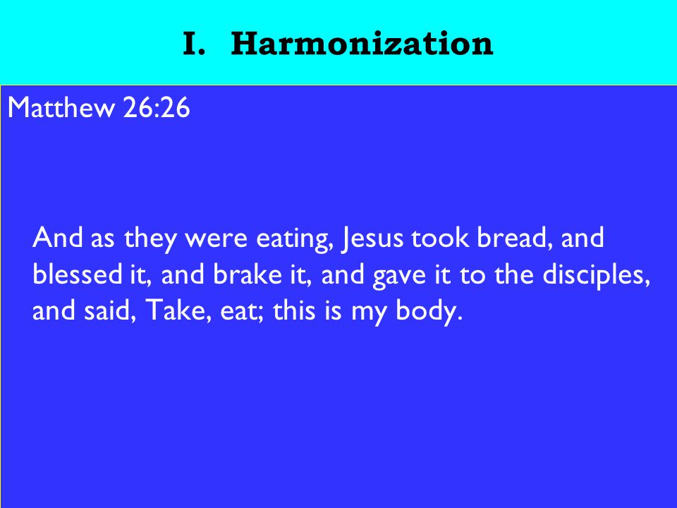 5 I.Harmonization a. We should pay attention to every part of the ceremony.