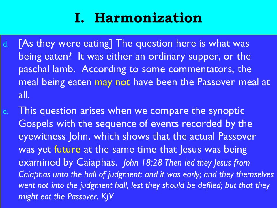 19 III.Leavening Process g. Leavening represents a corruption of the original.