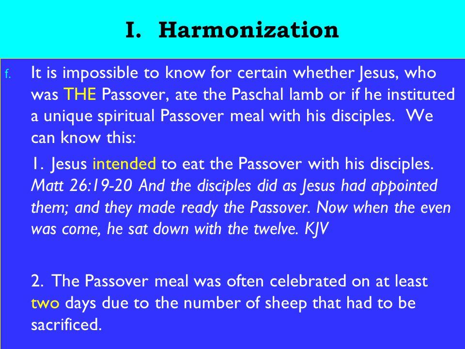 10 I.Harmonization 3.