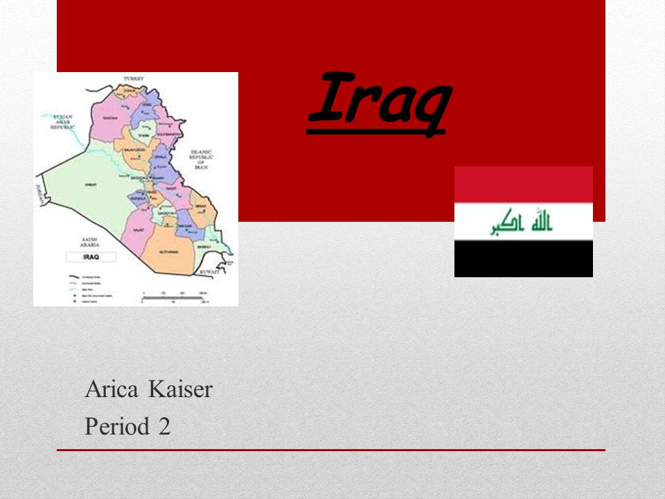 Iraq Arica Kaiser Period 2