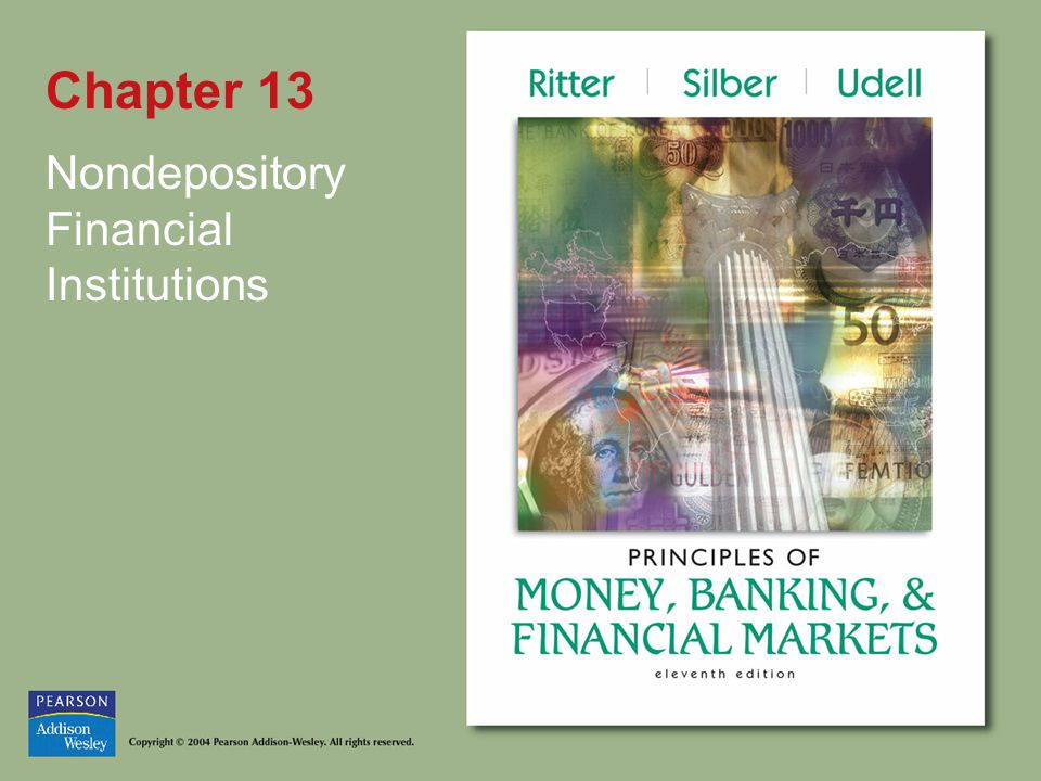 Chapter 13 Nondepository Financial Institutions