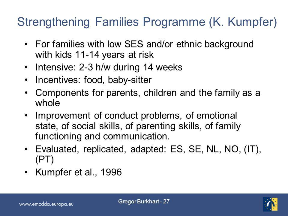 Gregor Burkhart - 27 Strengthening Families Programme (K.