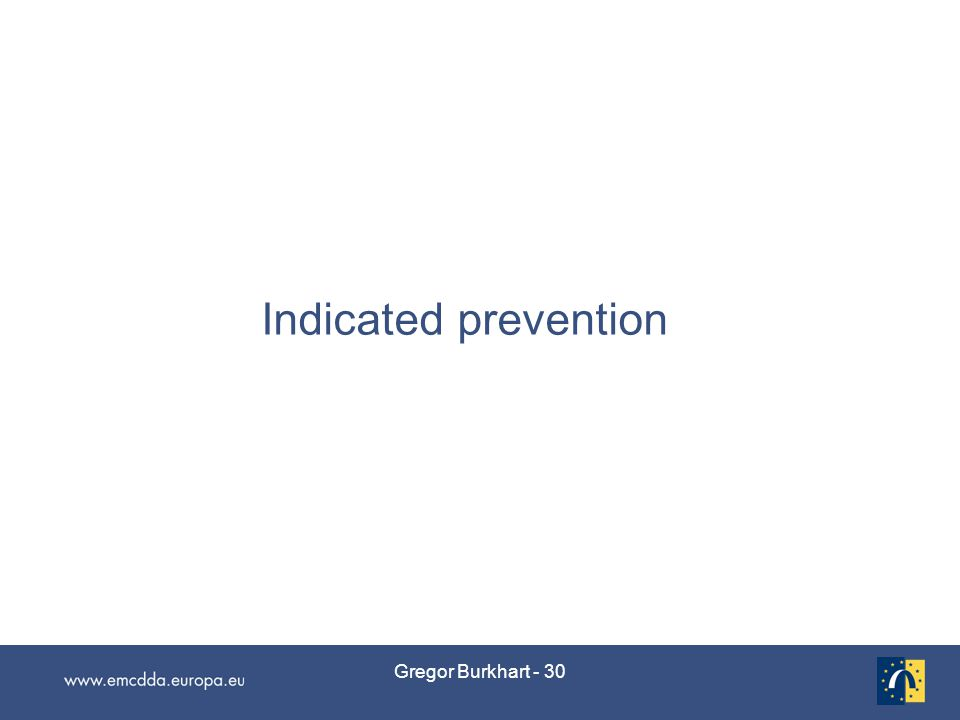 Gregor Burkhart - 30 Indicated prevention