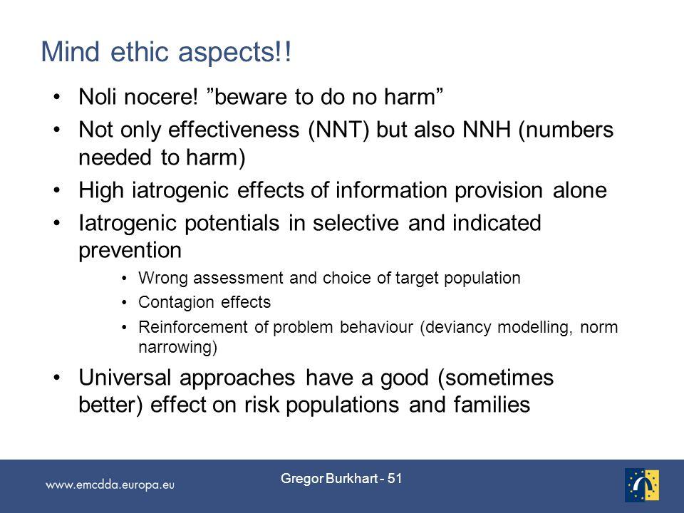 Gregor Burkhart - 51 Mind ethic aspects!. Noli nocere.