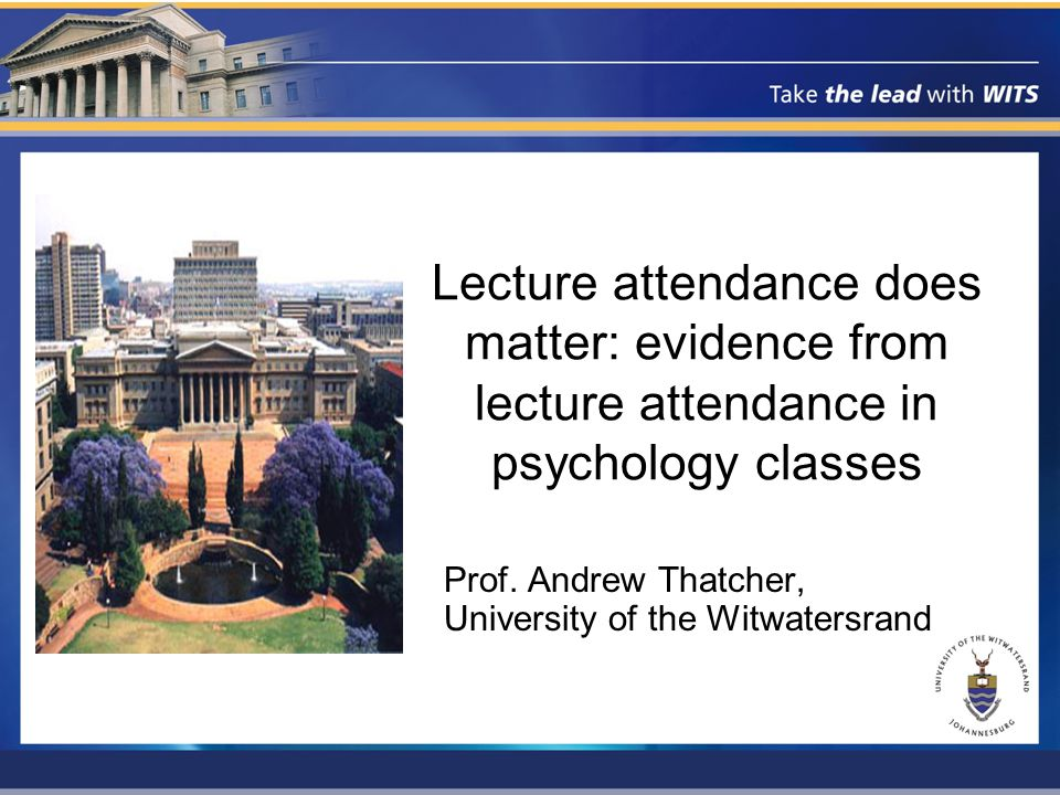 2 nd Year attendance patterns 233 students, 16 registers (over 14 weeks) 1 attendance: 13 students (5.6%) 16 attendances: 6 students (2.6%) Correlations: –Test 1:0.29*Test 2:0.29* –Essay 1:0.12Essay 2:0.20* –Examination:0.26* –Overall:0.28*