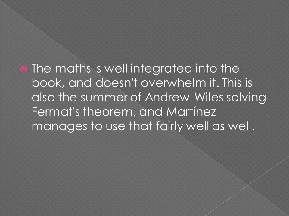  The maths is well integrated into the book, and doesn t overwhelm it.