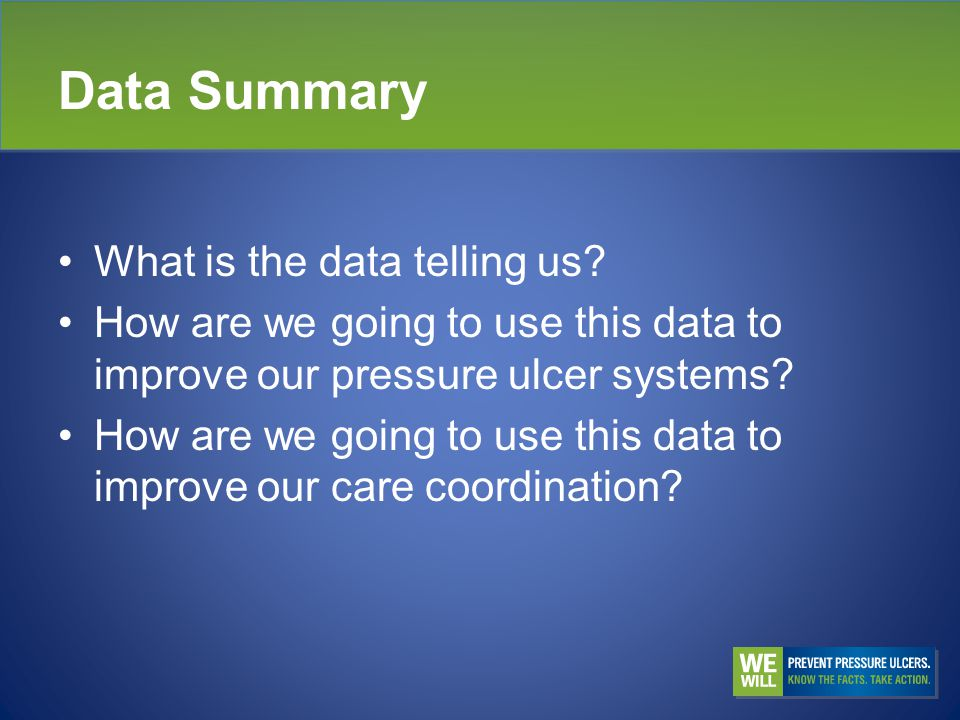 Data Summary What is the data telling us.