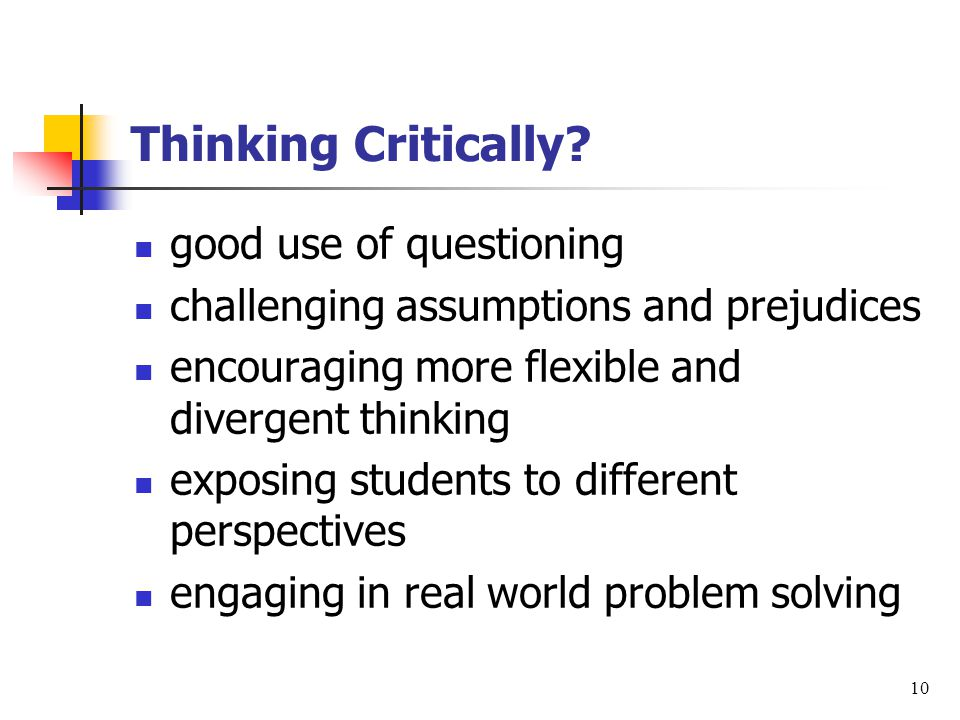Thinking Critically.