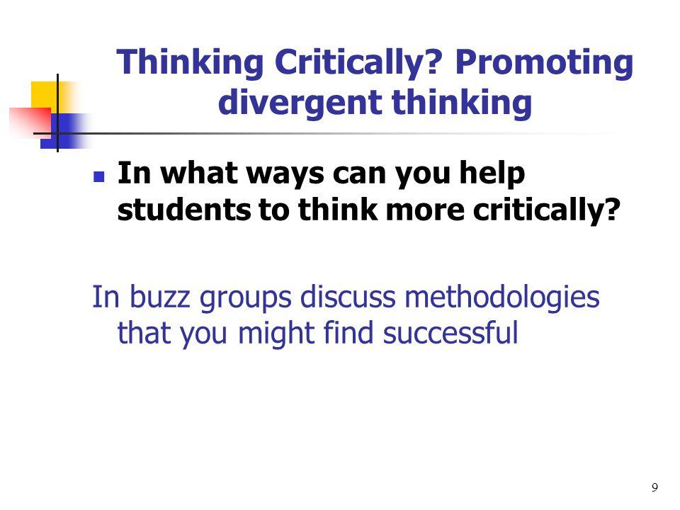 Thinking Critically.