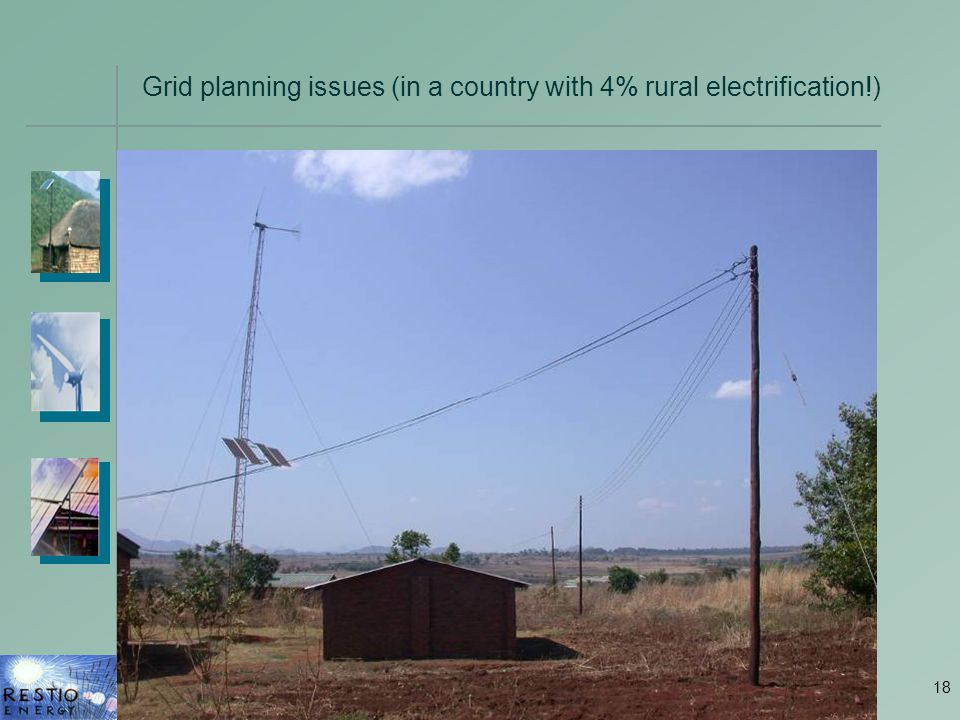 18 Grid planning issues (in a country with 4% rural electrification!)