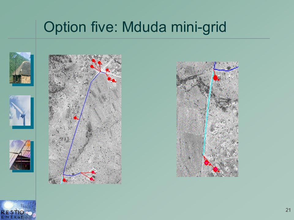 21 Option five: Mduda mini-grid