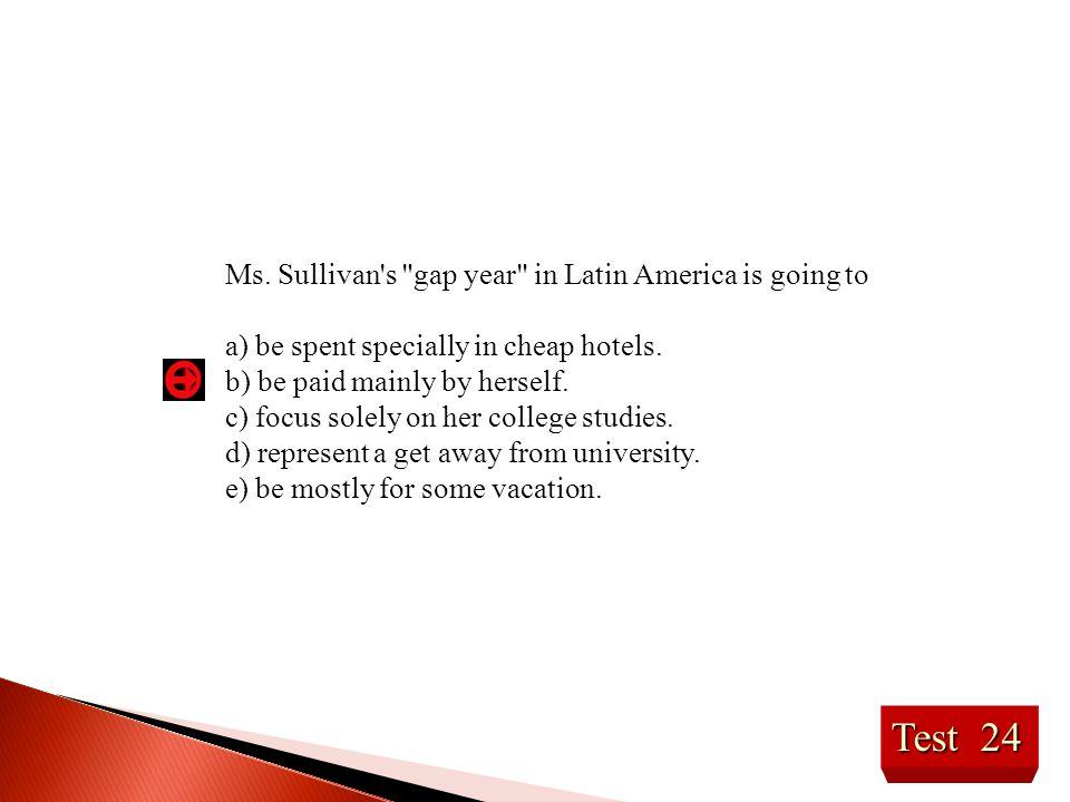 Ms. Sullivan's