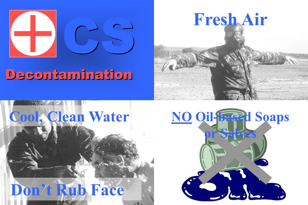 Cool, Clean Water Fresh Air NO Oil-based Soaps or Salves Don't Rub Face Decontamination CS