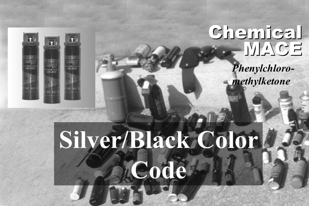 Silver/Black Color Code Chemical MACE Phenylchloro- methylketone